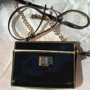 Dooney and bourke patent leather shoulder bag